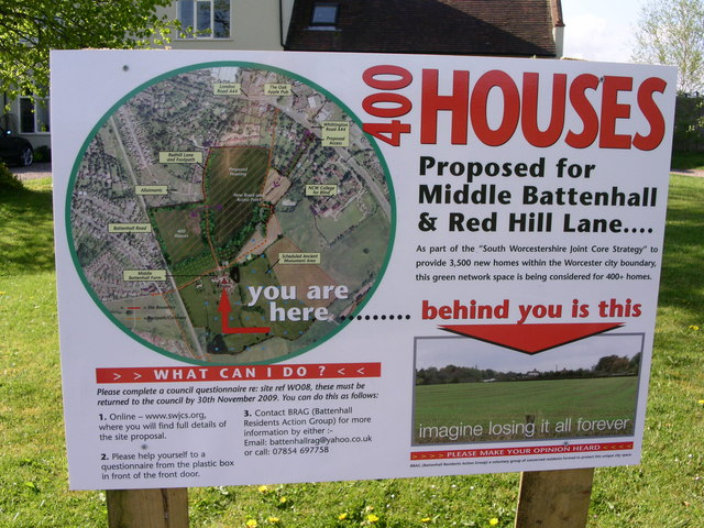 A NIMBY poster informs neighbors about a proposed housing development and advocates against it. (Source: Andrew Darge)