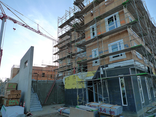 Affordable housing like this development under construction in Sacramento, CA is frequently funded through Low Income Housing Tax Credits. (Source: Mark Hogan)